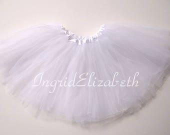 White Tutu, White Toddler Tutu, White Ballet Tutu, White Tutu Skirt, White Girls Tutu, White Dance Tutu, Tulle Skirt, Costume