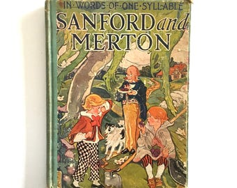 Antique Children's Book 1895 - Sanford and Merton in Words of one Syllable by Mary Godolphin