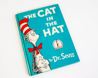 Vintage 1950s Childrens Book / The Cat In The Hat by Dr. Seuss 1957 Hc Dr Seuss I Can Read It All By Myself Childrens Book