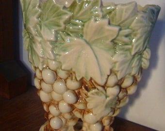 Vintage Cluster Of Grapes McCoy Pottery Vase