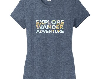 Explore Wander Adventure Women's Fitted T-Shirt