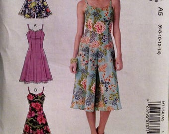 McCall's M7156 new uncut dress and jumpsuit pattern