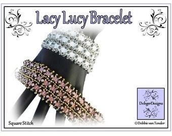 Tila Beading Pattern, Tutorial, Bracelet - LACY LUCY