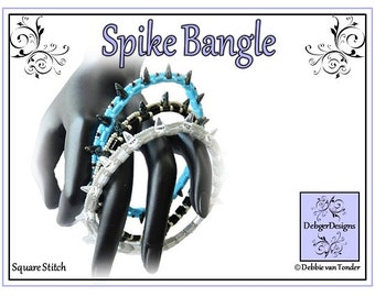 Beading Pattern, Tutorial, Bangle - SPIKE TILA