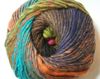 Noro Kureyon Wool Iris Agate Orange Brown Teal Yarn Per Skein 393 Lot A