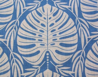 Tropical Paradise Philodendron Leaf Leaves Blue White Blend Fabrics LLC Cotton Yard