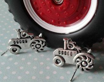 Tractor Earrings