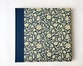 Large Family Album, Wedding Album, blue Renaissance Flowers, Big Festive Photo Album