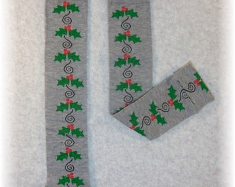 Leggings Christmas Holly Red Green for Baby Toddler Child (one size fits most) Leg or Arm Warmers - Christmas Holly Red Green leggings