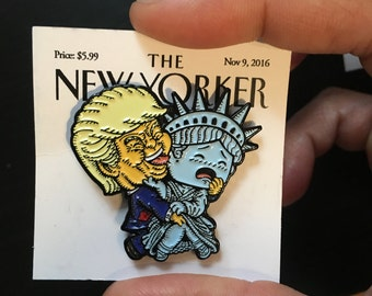 Super Emo Inaugeration | Soft Enamel Pin | Trump loves statue of liberty | Grab Miss America | Lapel Pin | New Yorker | Only 100 | Limited