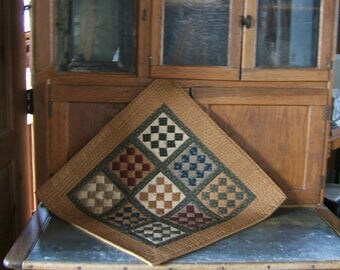 Checkerboard Nine Patch Table Topper or Wall Hanging (Item #126)