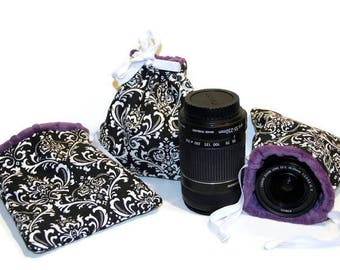 1 in stock CUSTOM Size DSLR Camera Lense Point and Shoot Camera Bag GoPro Camera Accessories - Pouch