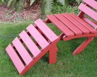 Rest Your Feet! Cedar Ottoman Footrest for Patio Garden Deck Chairs - Available in 12 Colors - Patio Furniture handcrafted by Laughing Creek