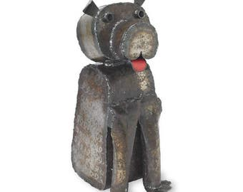 Deputy Dog Floor Sculpture Metal Dog Art