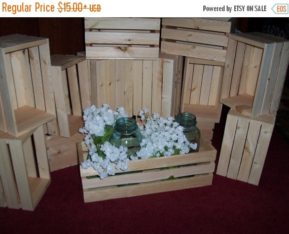 On sale flower planter box wooden crates in by primitivearts