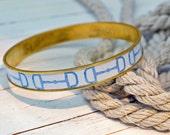 Women's Equestrian Bangle Bracelet - Baby Blue Horsebit