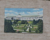Grand Hotel, Mackinac Island, Michigan Postcard, Unposted, Unused, Lots of Flags on Front