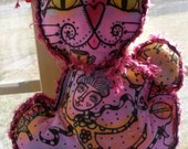Cat Tale Tilly, Doll, Once Upon A Time, OOAK, Handpainted story cat doll, Doll for Grown Ups