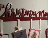 Christmas Mail Cut out Sign - Christmas Card Holder - Christmas Card Hanger - Christmas Cards -  Greeting Card Holder