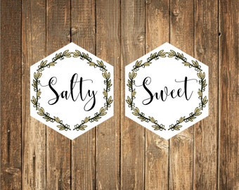 Salty & Sweet Custom Stickers 24 count
