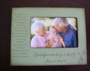 Personalized Picture Frame for Grandparents, Grandma, Grandpa, Grandmother, Grandfather, Personalized Keepsake frame from Grandchildren, 4x6