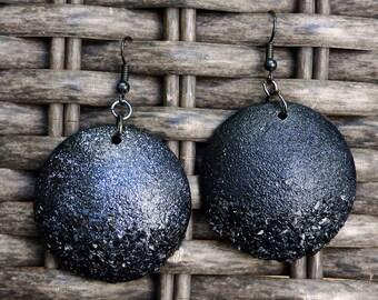 Night sky polymer clay earrings