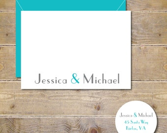Ampersand,  Wedding Thank You Cards, Bridal Shower, Thank You Cards, Ampersand Wedding Thank You Cards, Affordable Wedding