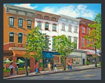 Tarrytown: Main Street, Summer Day, with Tarry Tavern