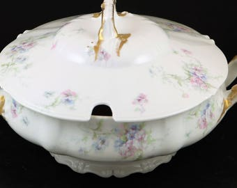 Theodore Haviland Limoges, 9 Inch Soup Tureen