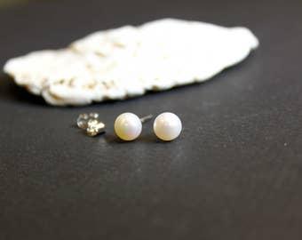 Pearl Earrings, Sterling Silver Earrings, Stud Earrings, Birthday Gift, Mother's Day Gift