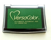 Ink Pad VersaColor Green Tea No. 161 | Pigment Ink | Acid-free | Embossing | Green | Green Stamp Pad