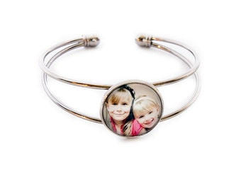 Photo Bangle Bracelet / Personalized Photo Bracelet / Photo Jewelry / Picture Jewelry / Photo Gifts / Personalized Gift / Picture Bracelet