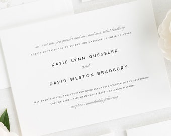 Classic Urban Wedding Invitations - Sample