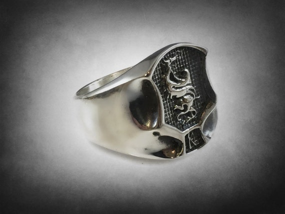 ELVIS ed parker kempo karate ikka dragon and tiger ring solid sterling silver 925