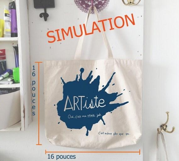 Prévente sac en coton « Artiste »