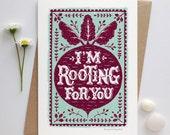 Good Luck Card | Encouragement Card | Positive Vibes Card  | Luxury Greetings Card | Fine Art Card