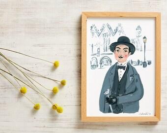Poirot A4 Print