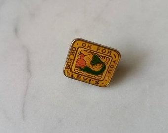 Vintage 70s Levi's MERMAID Pin