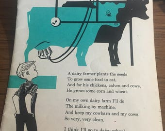Dairy Farmer occupational book page print. 7 x 10. Would look good framed. ag FFA 4H art image
