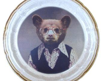"""Benji Bear Plate 10.75"""""""