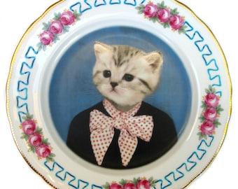 """Katie Kitten Portrait Plate 9.25"""""""