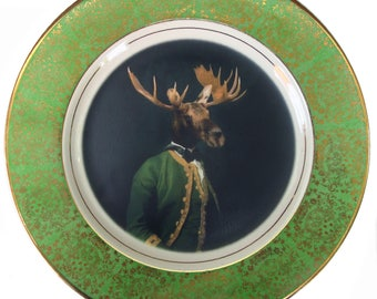 "Baron de Capreolinae Portrait Plate 10.75"""