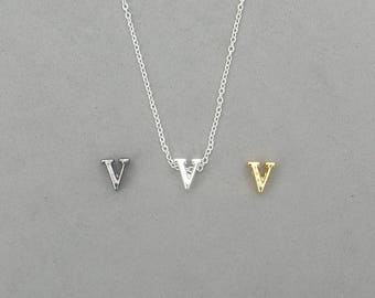 Initial v Necklaces