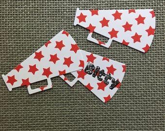 Cheer Megaphone Die Cuts Cheerleading Megaphone Die Cuts Cheer Spirit Jersey Tags Cheer Gift Bag Tags