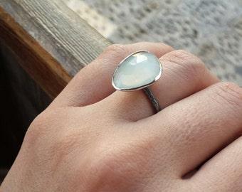 Sterling Silver Ring Moonstone Gemstone Ring