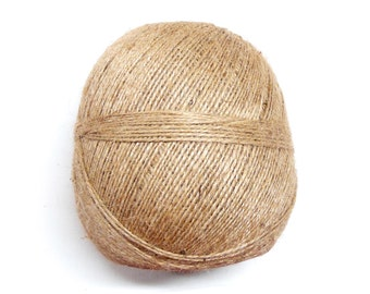 Natural Hemp Twine Cord, Unbleached Hemp Thread, Thick Hemp Rope Cord, Hemp String, 1-1.5mm diameter, 25 Yards/ 75 Feet - 1 piece