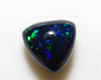 Black Welo Ethiopian Opal  so Gorgeous High Quality Full Color Full Flashy Fire smooth Polished Trillion shape Cabochon size - 11.5x11.5 mm