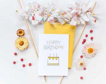 Letterpress Birthday Triangles Card