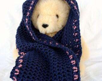 Crochet cowl PDF PATTERN infinity scarf thick bulky feminine elegant wide circle scarf winter fashion accessory pretty warm