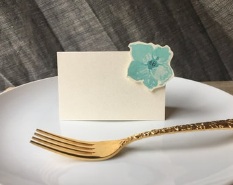 Delphinium  Soft Blue Flowers- wedding - Place Card - Gift Card - Table Number Card - Menu Card -weddings events